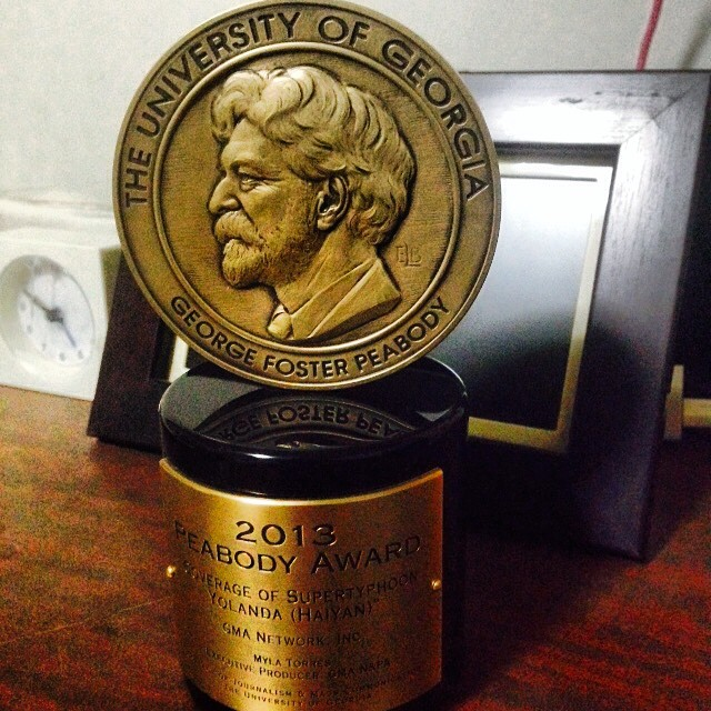 Our special coverage of Supertyphoon Yolanda was included in the entry, which won GMA News a Peabody award
